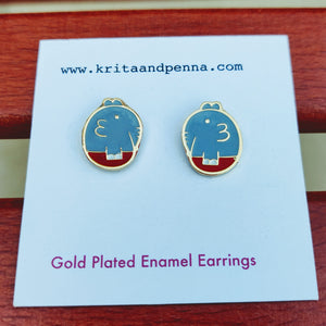 The Easygoing Elephant Gold Plated Earrings
