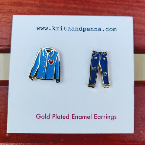 The Dandy Denim Gold Plated Earrings