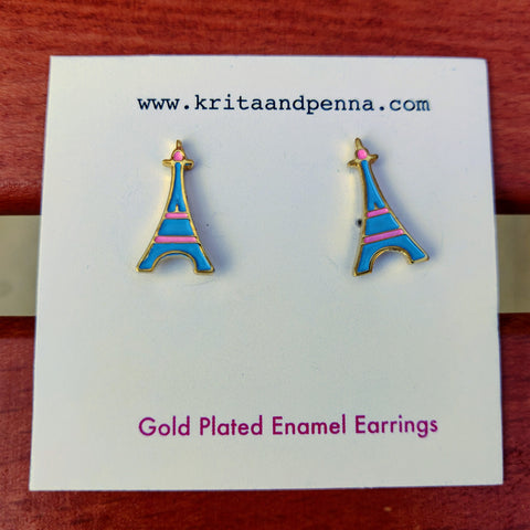 The Epic Eiffel Gold Plated Earrings