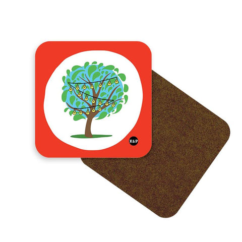Tree of Light Coaster Set - Set of 2