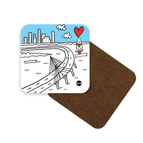 Cities We Love Coaster Set - Set of 6-with holder