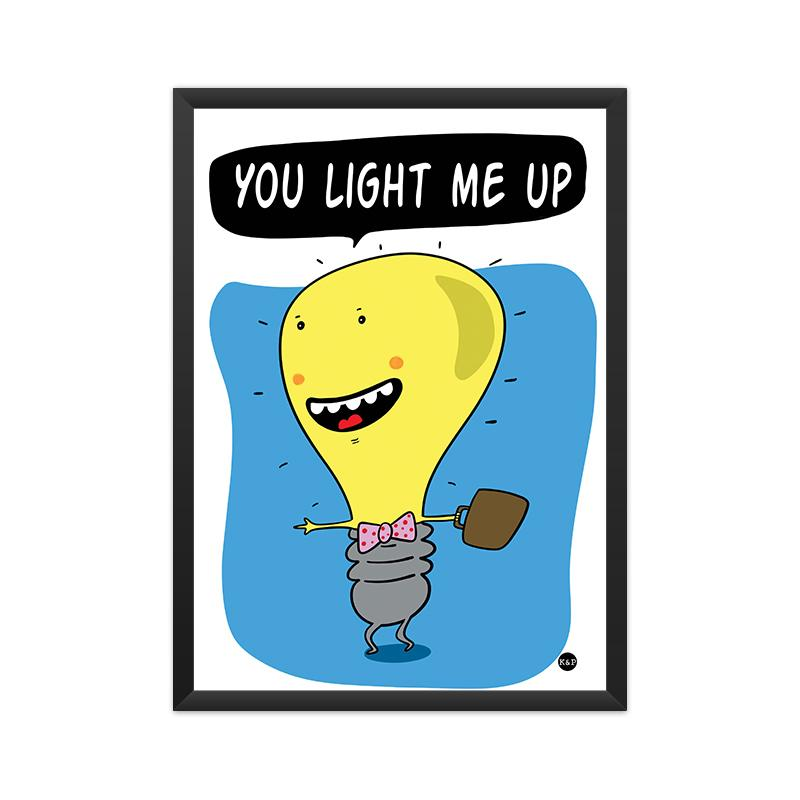Framed Print - Light Bulb