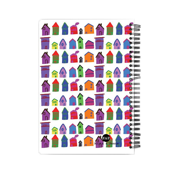 The Colourful Houses Notebook