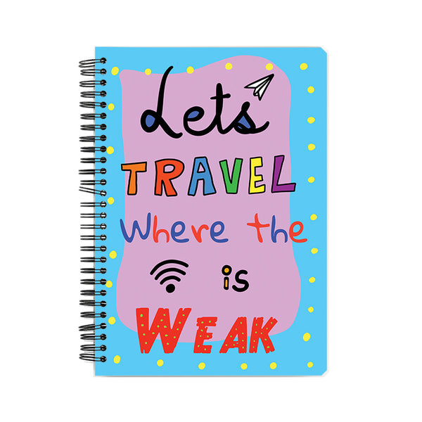 The 'Let's get Lost' Hardback Notebook