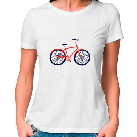 Bicycle Women Fitted T Shirt