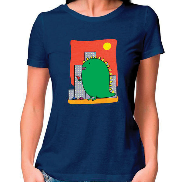 Dino Women Fitted T Shirt