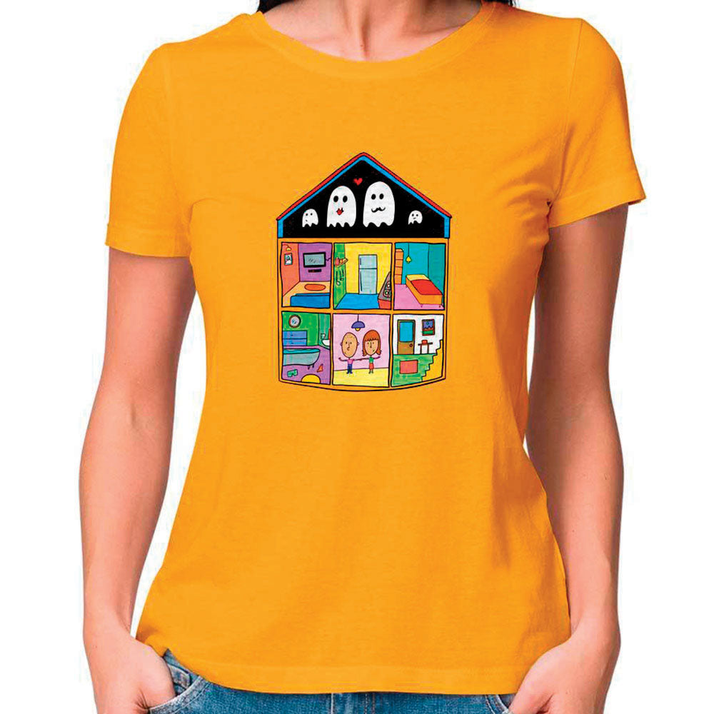 Ghost House Women Fitted T Shirt