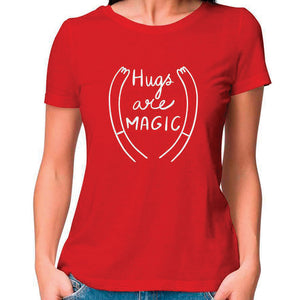 Hugs are Magic Women Fitted T Shirt