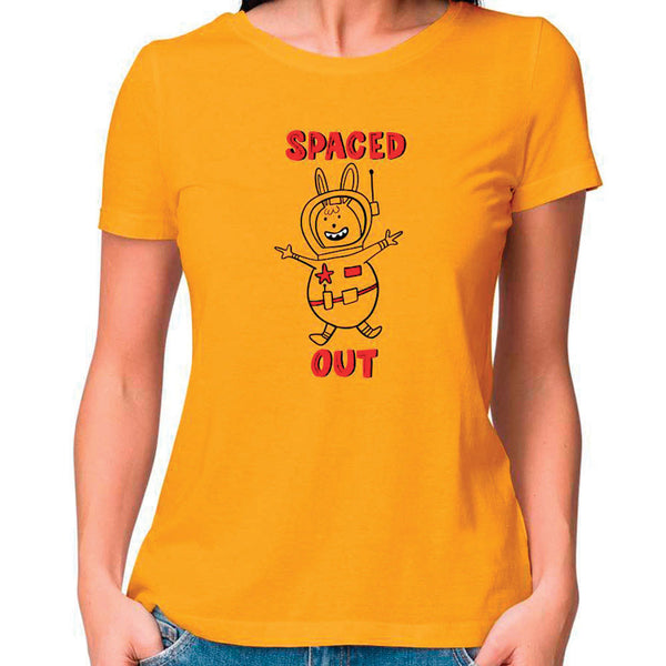 Spaced Out Women Fitted T Shirt