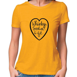 Whisky.Soda.Life Women Fitted T Shirt