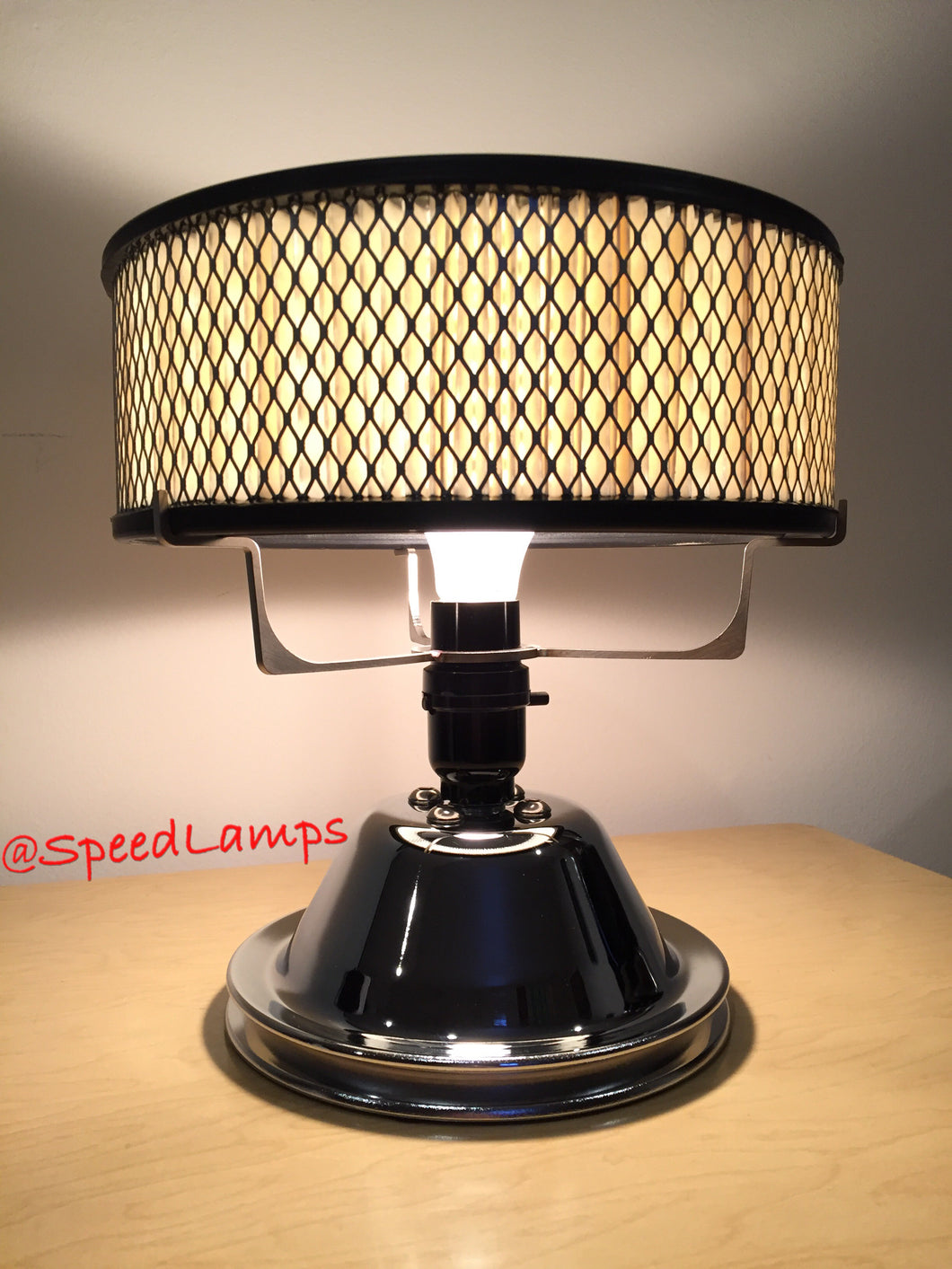 Chrome Pulley Lamp
