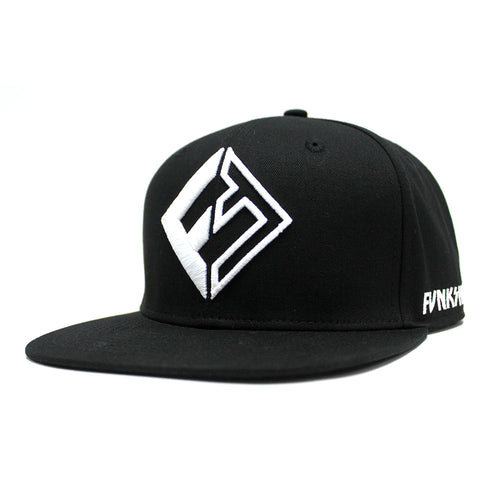 "Funksen ""Icon"" Black Snapback Hat - Funkshen Bodyboards"
