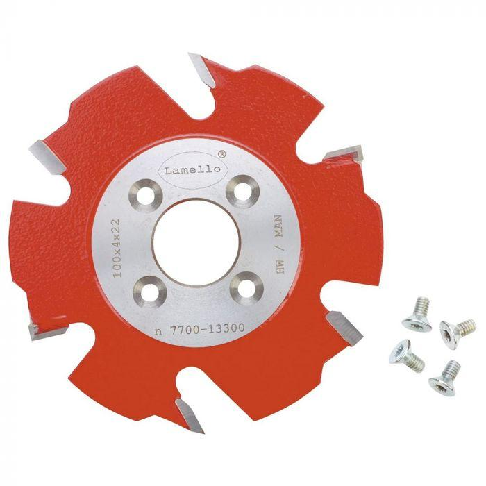 "Lamello 4"" (100mm) 6T Carbide Top 20 & Top 21 Biscuit Joiner/Scoring Saw Blade 132000"