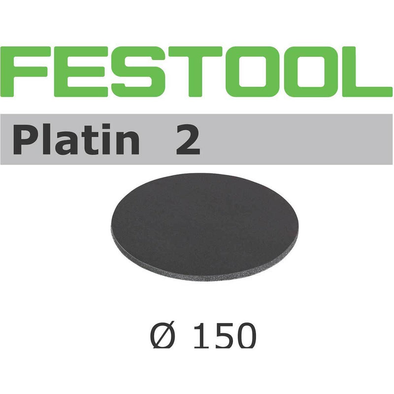 Festool 150mm Platin 2 abrasive discs are foam-backed silicon carbide abrasives for super-fine finishing.