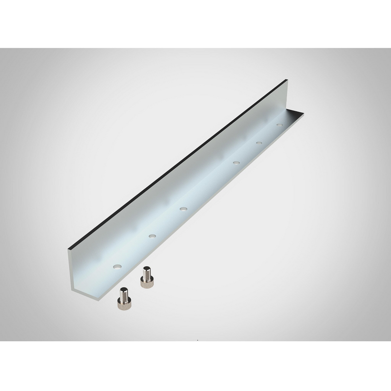 The Long Angle Accessory has 2 stainless steel socket head screws for mounting to a Guide Rail Square or Precision Triangle.
