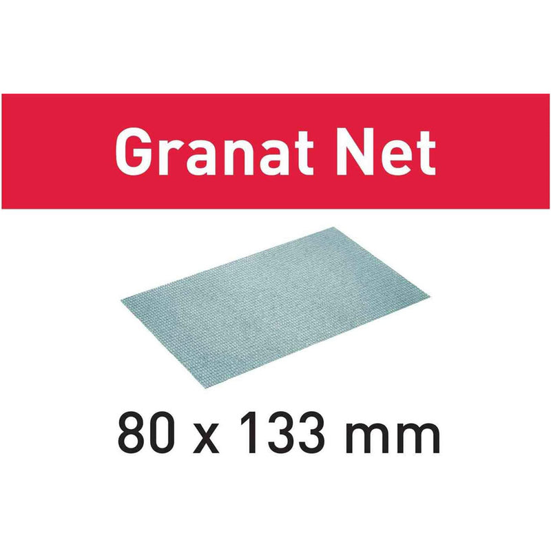 The net backing allows optimum dust collection to reduce clogging and extends abrasive life and increases sanding rates.