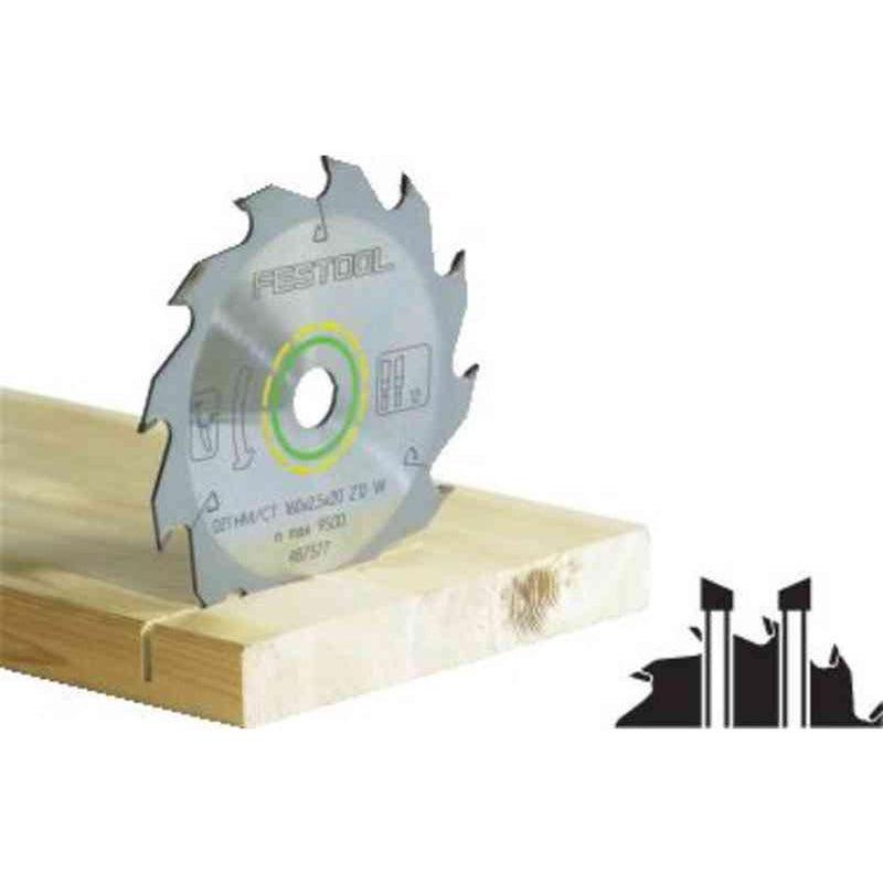 Ripping 190mm carbide tipped saw blade with 30mm bore, 2.8mm kerf and alternate top bevel grind on teeth. For AT 65 & AP 65