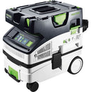 The CT MINI I has foot brake, touch control panel, blower port, Systainer storage, cord wrap, external filter cleaning.