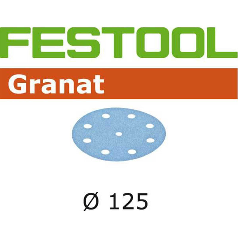 "Festool D125mm (5"") Granat StickFix abrasive disc is an open coat abrasive that resists loading."
