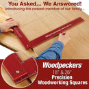 Woodpeckers 18 and 26 inch Precision Woodworking Squares - Ultimate Tools