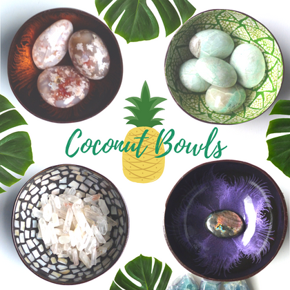 Handmade Coconut Bowls with Resin and Shells from Simply Affinity
