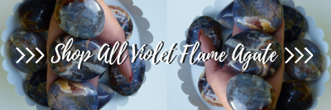 shop the violet flame agate collection from simply affinity