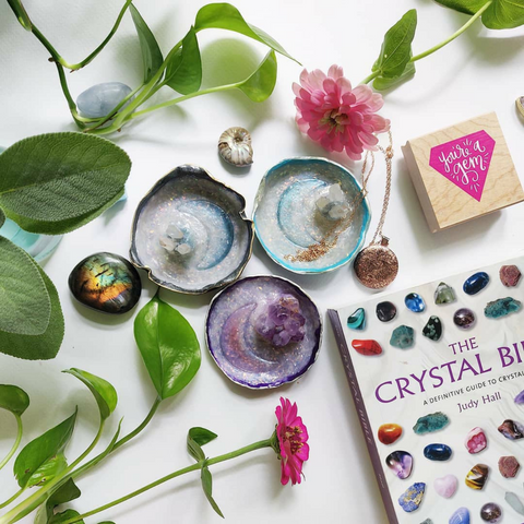 Polymer Clay Crystal Trinket Dishes from Simply Affinity