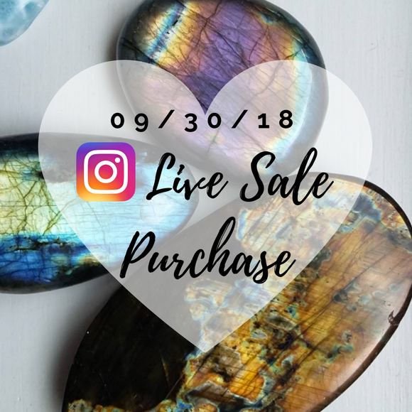 Sale from Simply Affinity's Instagram Live Sales