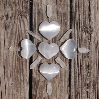 One Selenite Heart
