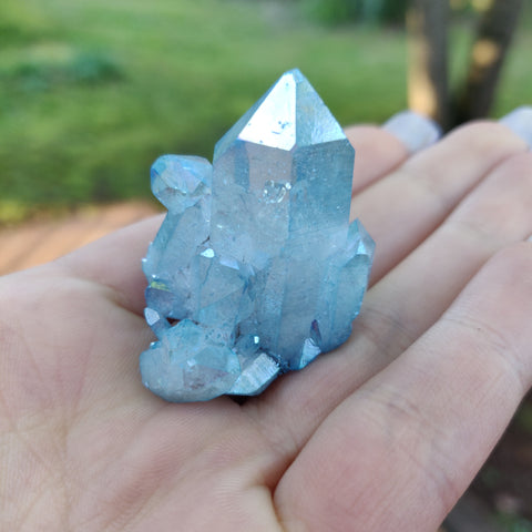 Arkansas Aqua Aura Quartz Point (#9)