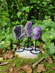 Amethyst Druzy Free Form on Metal Stand (#1)