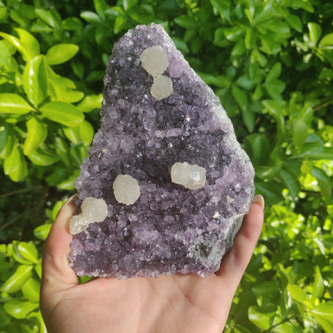 Amethyst Geode Free Form with Calcite inclusions (#4)