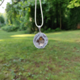 Agate Geode and Citrine Pendant includes a FREE Cotton Cord Necklace (#4)