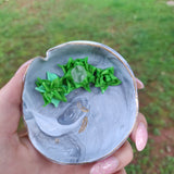 Marbled Succulent Trinket Dish with Quartz