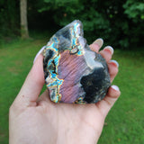 Self-Standing Purple Labradorite Slab (#J1)