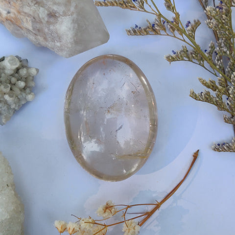Reserved for Anon, Natural Citrine Palm Stone (#J1)