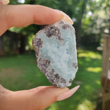 Polished Larimar Slab (#J9)