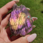 Reserved for Zukie, Purple Labradorite Slab (#J5)