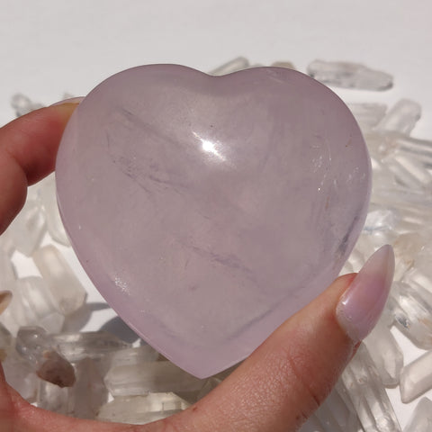 Rose Quartz Heart (#J2)