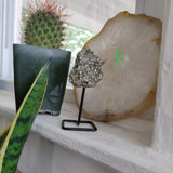 Pyrite Cluster on Metal Stand - Choose your Favorite!