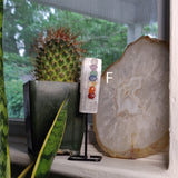 1 Chakra Selenite on Metal Stand - Pick your Favorite