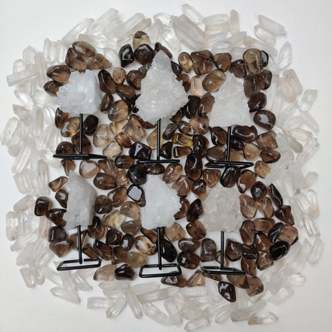 Quartz Cluster on Metal Stand - Choose your favorite