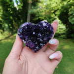 Grape Jelly Amethyst Geode Heart (#J1)