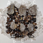 Elestial Smoky Quartz on Metal Stand - Choose your favorite