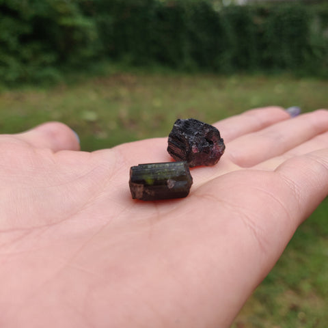 Custom Order Reserved for Jazmin, Raw  Black/ Green/Pink Tourmaline