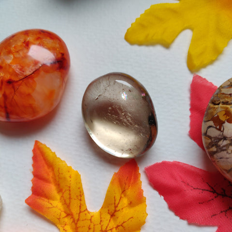 Citrine Pocket Stone with Rainbow Inclusion (#A3)