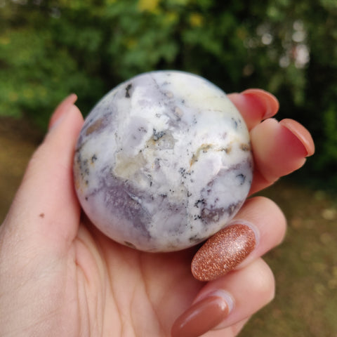 Dendritic Opal  Palm Stone (#16)