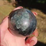 Green/Blue Apatite Sphere (#1)