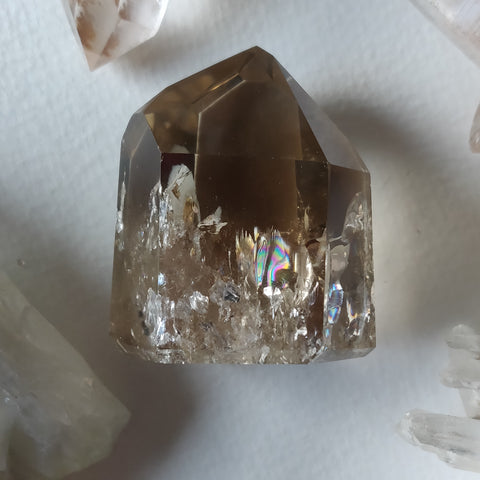 Citrine Point with RAINBOWS, Natural Citrine (#1N)