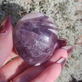 RARE Purple Anhydrite Palm Stone (#1)